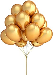 GOLD LATEX BALLOONS,50PCS 12INCH BALLOONS DECORATIONS FOR BIRTHDAY DECORATIONS, HELUIM BALLOONS PARTY SUPPLIES (SILVER)