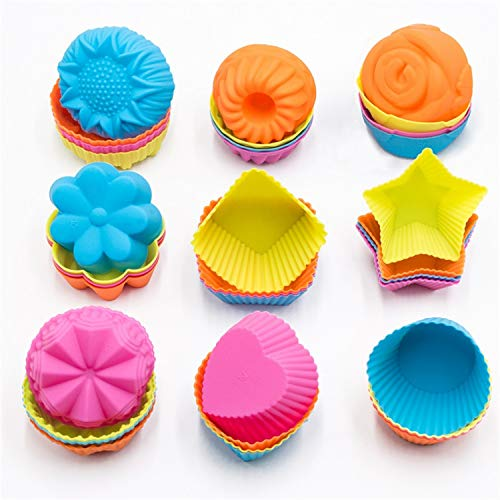 Silicone Cupcake Baking Cups 36PK
