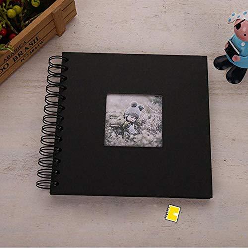 EDCV 20 pagina's DIY fotoalbum Kids geheugen boek papier fotoalbum Scrapbooking album, zwart