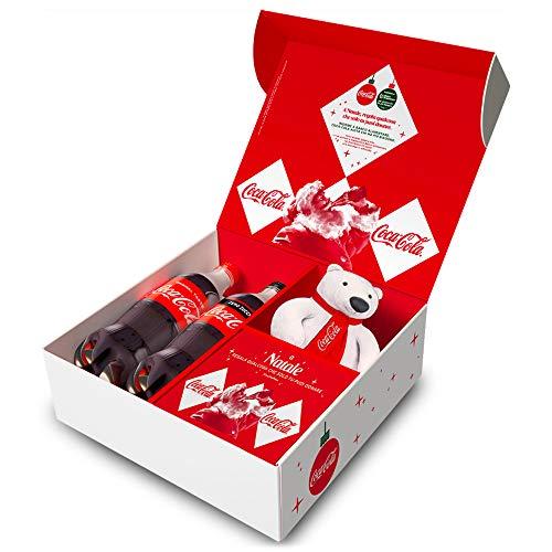 Coca-Cola Christmas Box (idea regalo con pack di Natale Coca-Cola e orso peluche Coca-Cola)