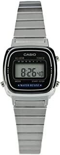 Casio Classic Womens Quartz Watch, Digital, Stainless Steel, LA670WA