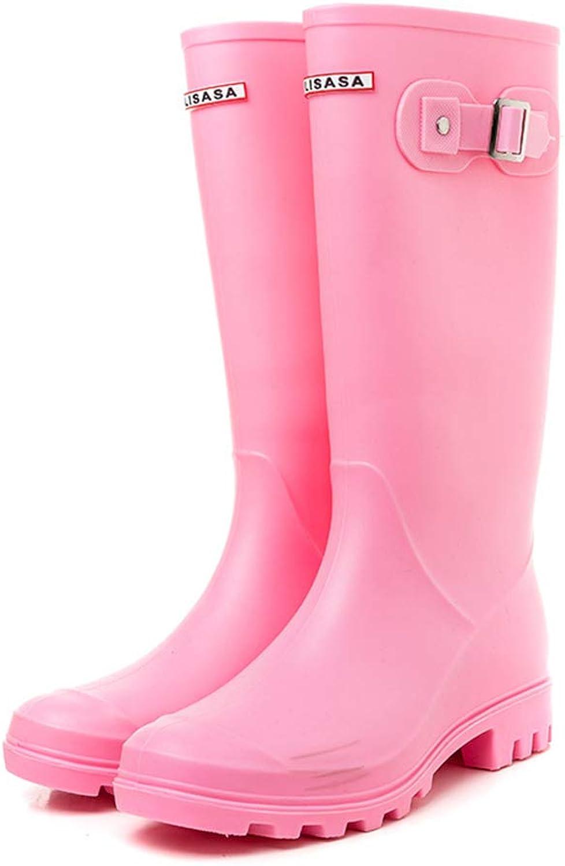 Ladies Rain Boot with Buckle & Pull Loop