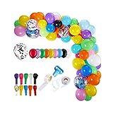 Ducha globos del arco del globo Kit Set 113Pcs la boda del cumpleaños del bebé del partido de la guirnalda Multicolor