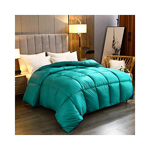 Qwhome All Season Duvet 10.5 Tog Double Duvet Insert Feels Like Down Classic Quilt Anti Allergy and Warm Comforter with Corner Tabs, 6 colors,(10.5 Tog, Double),Green,200 * 230cm