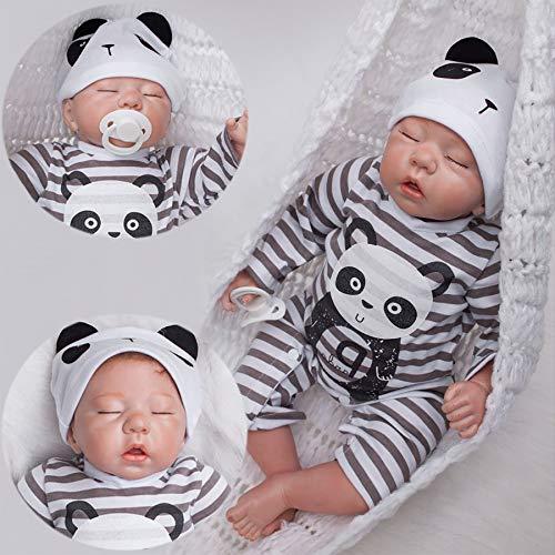 antboat 20 Zoll 50 cm Reborn Babys Junge Lebensechte Weiche Silikon Vinyl Kleinkind Süßes schlafendes Baby Handgemachtes Kommt mit exquisiter Verpackung
