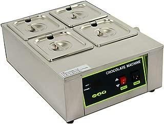 NEWTRY Digital 17.6lbs Capacity 4 Pots Electric Chocolate Melting Machine Temperature Adjustable 1000W Commercial Chocolate Tempering Machine Melter Pot Heater (110V)