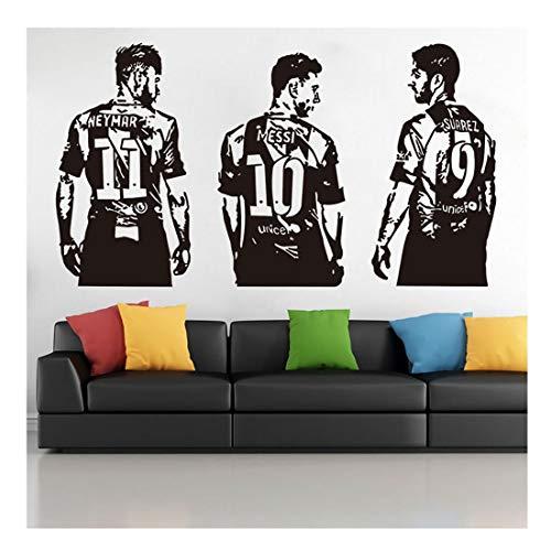 J&MY Factory Directe Verkoop Persoonlijkheid Buitenlandse Handel Explosies Voetbal Ster Blackboard Stickers, Muur Stickers Messi Neymar Suarez