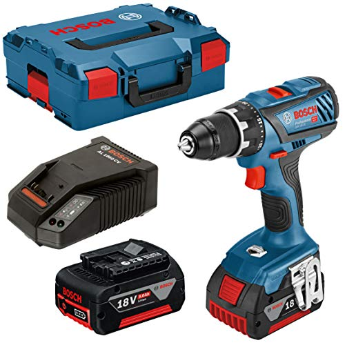 Bosch Professional 18V System GSR 18V-28 - Atornillador a batería (63 Nm, 2 baterías x 5,0 Ah, en L-BOXX)