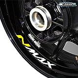 psler Neumático de la motocicleta reflectante creativo pegatina Etiqueta de llanta de rueda para Yamaha N MAX