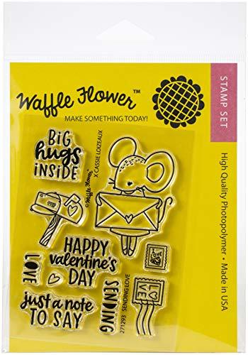 Waffle Flower Crafts Sellos transparentes de 3 x 4 enviar amor, talla única