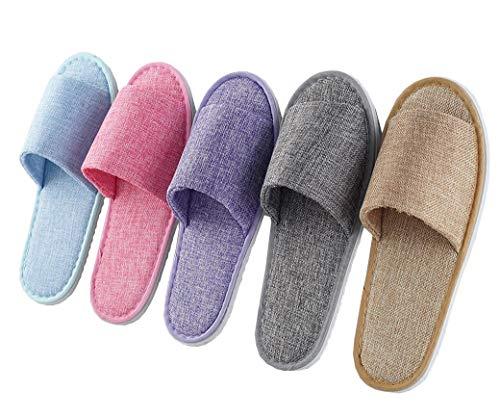 ACMEDE 5 Paar Hotelslipper/badeslipper/Frottee Slipper/Indoor Schuhe für Herren Damen