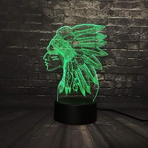 Nachtlampje meisjes met veren lamp 3D illusie lamp decoratieve lamp 7 kleuren cadeaugordel voor kinderen