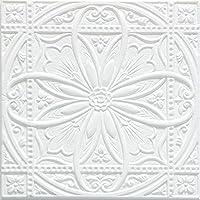 貼るだけ 簡単 クッション ティンパネル 花柄 1枚単位 シール 3D壁紙 軽量 ホワイト アンティーク 白