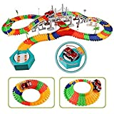 Liberty Imports 192 Pieces Create a Road Super Snap Speedway - Magic Journey Flexible Track Set - Ideal Gift Toy for Toddlers, Kids, Boys, and Girls (Deluxe Set)