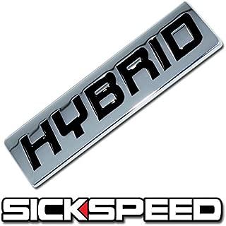 Chrome/Black Metal Hybrid Engine Race Motor Swap Emblem Badge Trunk Hood Door for Ford Escape