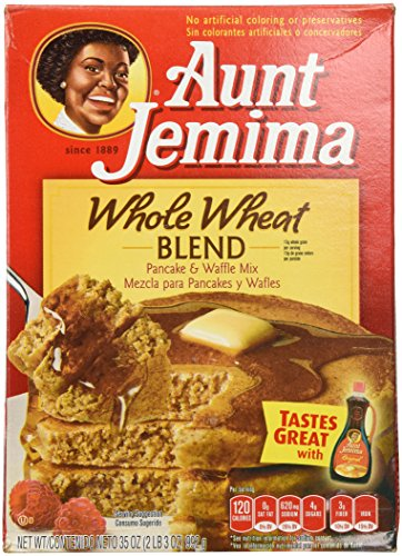 Aunt Jemima Whole Wheat Blend Pancake & Waffle Mix, 35 Oz 1 box