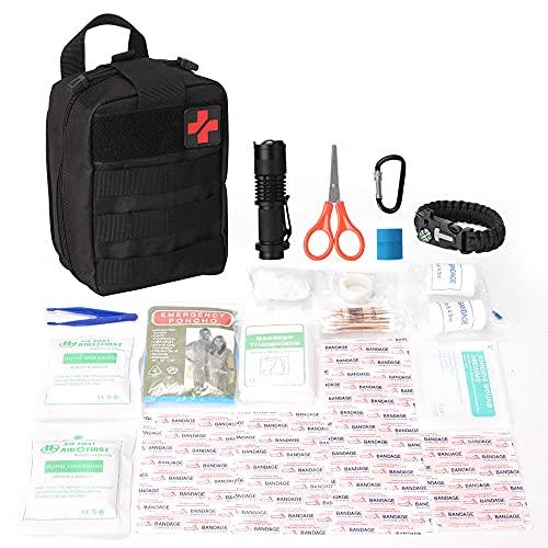 Lixada Molle Médico Bolsa Botiquín de Primeros Auxilios Supervivencia Emergencia Paquetes de Emergencia para Hogar Camping Caza
