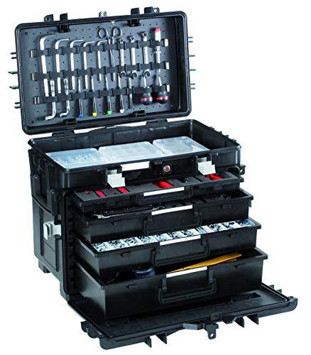 GT Werkzeugkoffer ALL.IN.ONE AI1.KT01 (ohne Inhalt, Werkzeugbox mit Schubladen, Koffer mit Rollen + Teleskopgriff, Werkzeugtrolley inkl. herausnehmbare Schubladen, Volumen 100,7 L) 488075