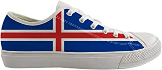 Owaheson Boys Girls Casual Lace-up Sneakers Running Shoes Iceland Flag