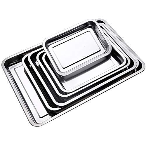 KGHONY - professionele kwaliteit baguette-bakplaat meerdere maten baguette bakvorm dienblad bakplaat bakplaat bakplaat bakplaat bakplaat gemaakt van roestvrij staal, rechthoekig 45 x 35 x 2 cm