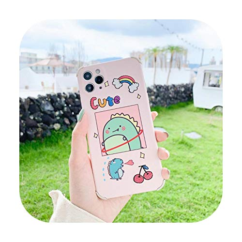 Weiche Schutzhülle für iPhone 11 / 12 Pro Max XS XR 7 / 8 Plus X mit niedlichem Cartoon-Dessertbär-Stickerei.