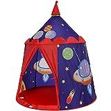 Songmics tienda de campaña infantil, carpa infantil plegable, casa de juegos para interiores y exteriores, pop-up portátil, tienda con bolsa de transporte, regalo para niños, azul lpt01bu