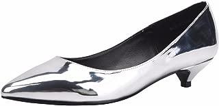 Women's D'Orsay Slip On Pointed Toe Low Kitten Heels Dress Pump