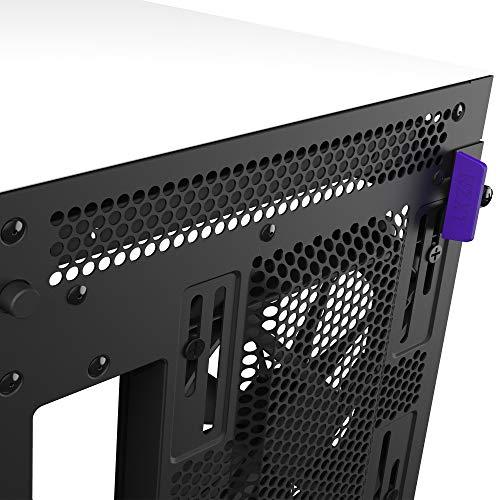 Nzxt H710 - Case da Gioco per PC Mid-Tower Atx - Porta Tipo C USB I/O Frontale - Pannello Laterale in Vetro Temperato ad Apertura Rapida - Compatibile con il Raffreddamento a Liquido, Bianco/Nero