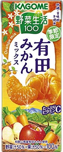 カゴメ 野菜生活100 有田みかんミックス195ml ×24本