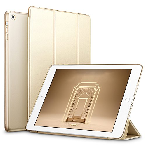 ESR Hülle kompatibel mit iPad Mini 3/ iPad Mini 2/ iPad Mini - Ultra Dünnes Smart Hülle mit Auto Schlaf-/Aufwachfunktion - Kratzfeste Schutzhülle mit Transparenter Rückseite - Gold
