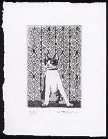 扉の前の猫銅版画・エッチング、作品のみ コレクション