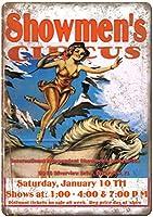 Showmen's Circus メタルポスター壁画ショップ看板ショップ看板表示板金属板ブリキ看板情報防水装飾レストラン日本食料品店カフェ旅行用品誕生日新年クリスマスパーティーギフト