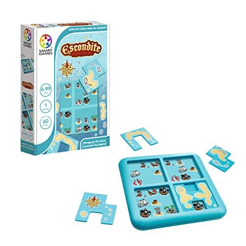 Smart Games- SG 432 ES Piratas del Caribe Escondite en la isla junior, Multicolor