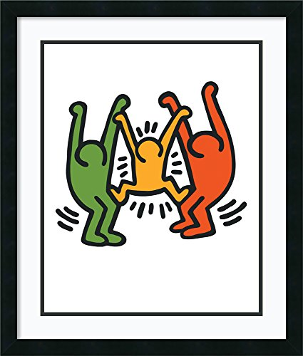 Framed Wall Art Print Untitled 1985 by Keith Haring 22.12 x 25.62 in.
