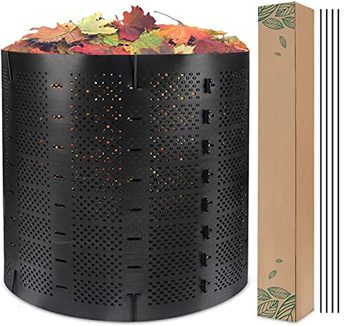 220 Gallon Compost Bin Outdoor, Zodight Expandable Outdoor Composter, Easy Assembling, Large Capacity, Fast Creation of Fertile Soil