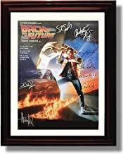 Framed Cast of Back to The Future Autograph Replica Print - Back to The Future Movie Promo