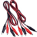 eBoot 2 Groups 1M Test Leads Set with Alligator Clips Double-ended Jumper Wires (2 Groups)