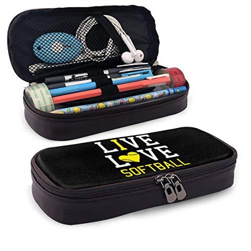 """Iop Tasche, für Kosmetiktasche, für unterwegs, mit englischer Aufschrift """"Live Love"""", PU, Schwarz, Einheitsgröße"""