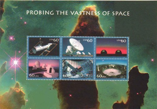 USPS Probing The Vastness of Space Sheet of Six 60 Cent Stamps Scott 3409