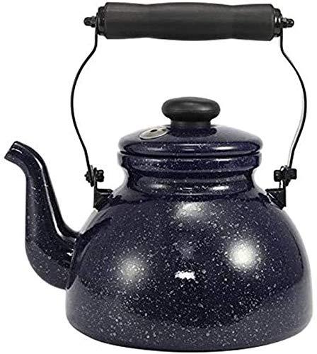 Auoeer Tetera De Esmalte, Botella De Agua Caliente con Lunares, Cielo Estrellado, Hervidor De Tweet, Hervidor, Propósito General, 2 L