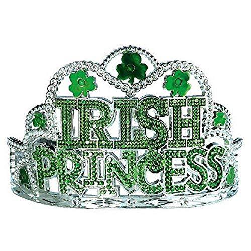 Amscan St. Patrick's Day 'Irish Princess' Green Plastic Tiara   Party Accessory   1 piece