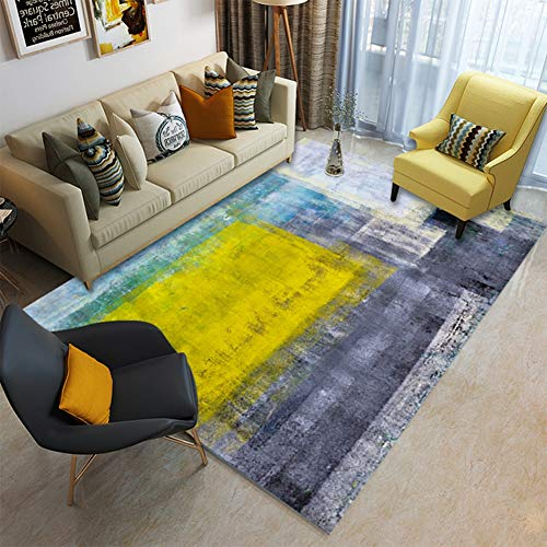 Ylmhe Teppiche Mehrfarbig Abstrakt Gemustert Area Rug Innen Wohnzimmer Matte Rechteck Teppich, A,160x230cm