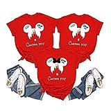 2021 Disney Trip Family Matching Shirts, Magic Kingdom Nombres personalizados Disney Shirts