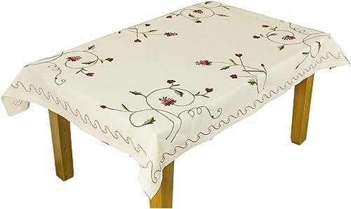RenShiMinShop Moderne Simple Broderie nappes Style Pastoral Table Basse Meuble TV Table à Manger Couverture de Table (Taille   180cm135cm)