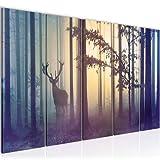 Bilder Wald Hirsch Wandbild 150 x 60 cm Vlies -