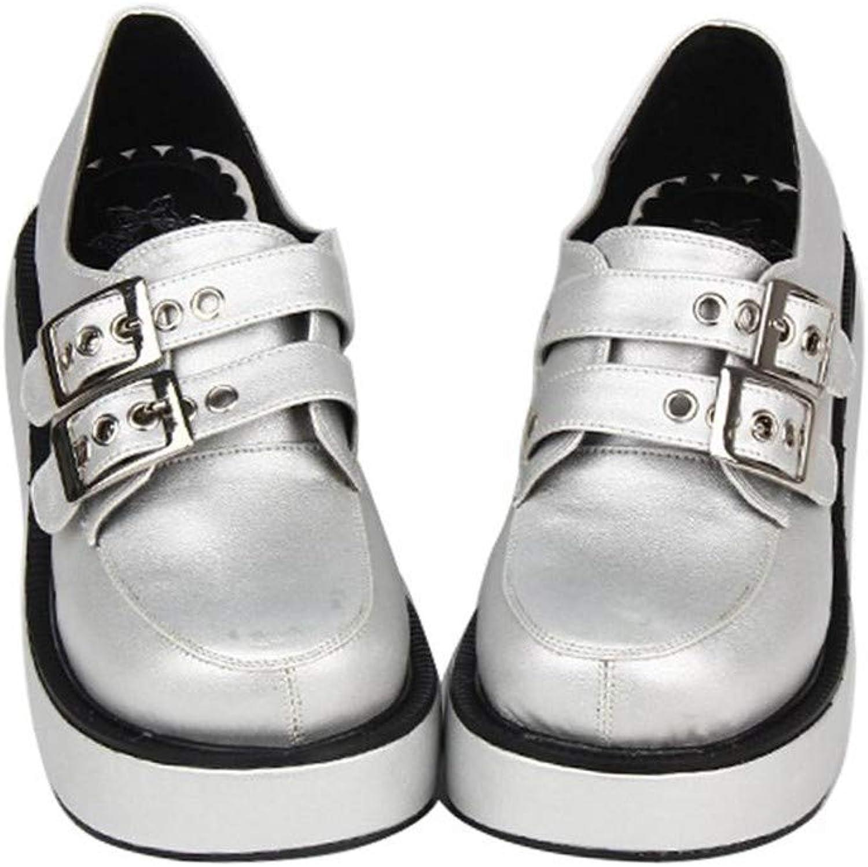 PINGXIANNV PINGXIANNV Classic Lolita Schuhe Rollenspielschuhe Dicke Plateauschuhe Studentenschuhe,34  gute Qualität