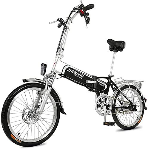 CASTOR Bicicleta electrica Bicicleta eléctrica Plegable, Bicicleta de montaña 36V400W, Marco de aleación de Aluminio 14.5Ah batería de Litio asistida a 60km, Adulto Macho y Femenino Bicicletas