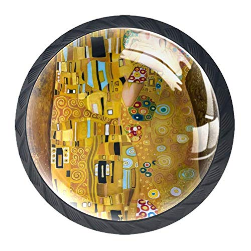 Tür Schublade Zuggriff Klimt inspirierte abstrakte Kunst Möbel Dekoration für Küchenschrank Schminktisch für Kommode und Schrank