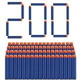 welltop 200 Piezas de Recarga Bullet Foam Darts Ammo Pack para Nerf N-Strike Elite Series Blasters Kids Toy (Azul)