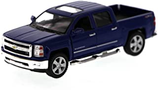 KiNSMART 2014 Chevy Silverado Pick-up Truck, Blue 5381D - 1/46 Scale Diecast Model Toy Car